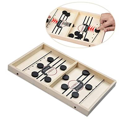 LXSLFY Slingshot Table Fast ice Hockey Game, Hockey Game Tabletop Parent-Child Interactive Toy, Champion Tabletop Tabletop Board Game Rhythm (14.6x9.5x1.4in) (Small): Toys & Games