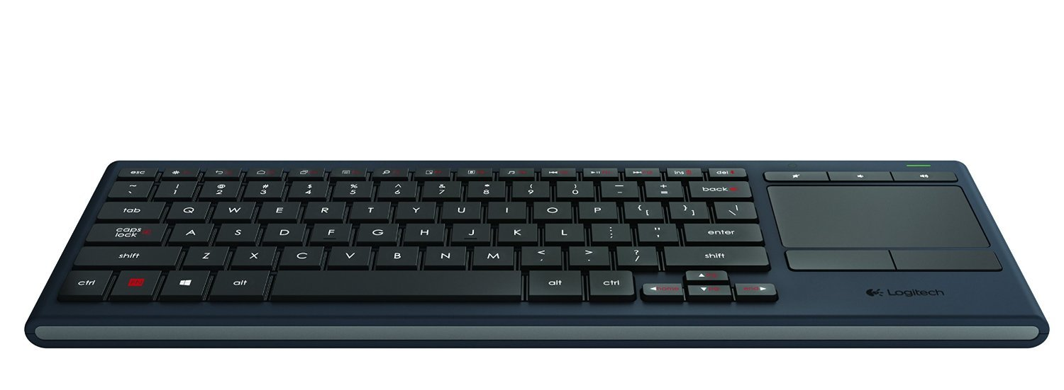 Logitech K830 Illuminated Living-Room Keyboard with Built-in Touchpad – Easy-Access Media Keys and Shortcut Keys for Windows or Android