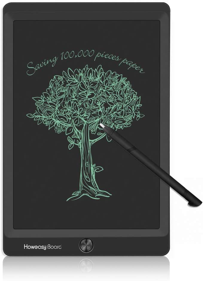 "Howeasy Board 8.5"" LCD Writing Tablet, Electronic Drawing Handwriting Paper Doodle Board Gift for Kids & Adults at Home, School & Office (Black)"