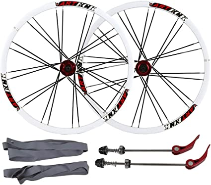 "26/""NEW BICYCLE WHEEL SET MAG 6-SPOKE MTB BIKE 7,8,9,10 SPEED WITH QR Front+Rear"