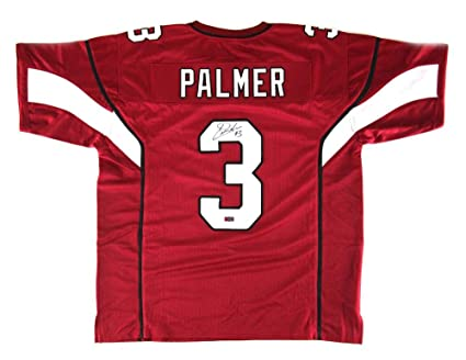 online store c11f7 c7574 Carson Palmer Signed Jersey - Red Custom - Autographed NFL ...