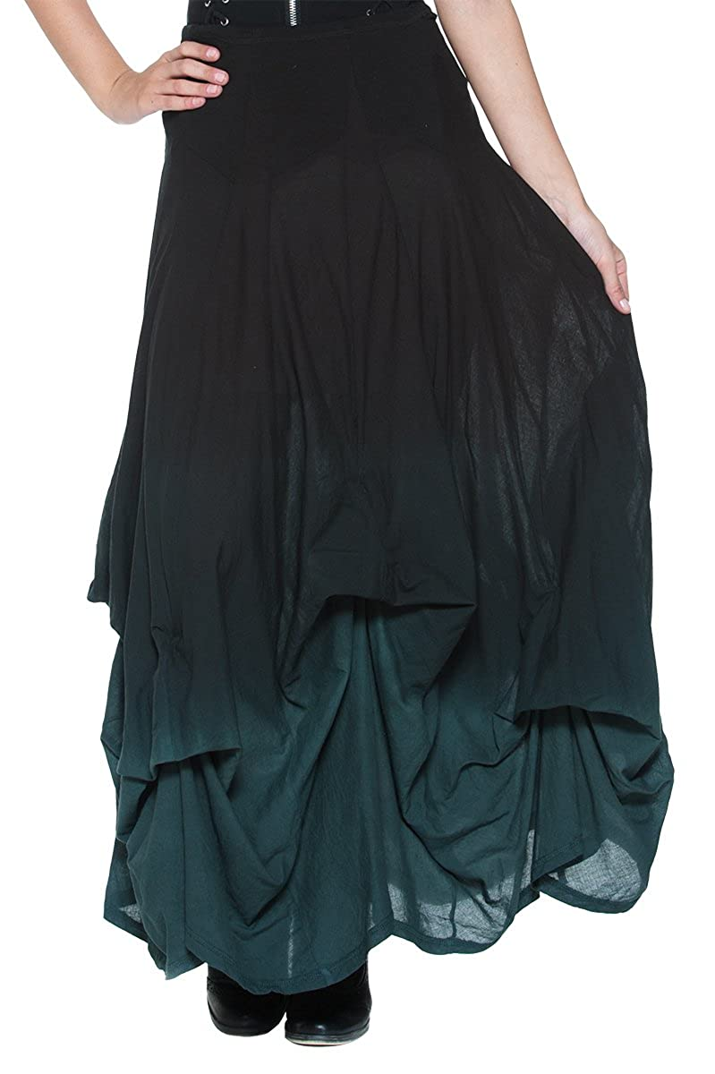 Black Gray Ombre Victorian Long Skirt