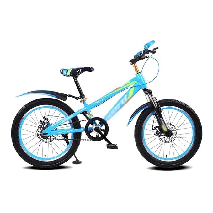 Brilliant firm Bicicletas Marco templado niño bicicleta cochecito masculino y femenino 16 pulgadas bicicleta de montaña 5-8 años de edad bicicleta (Color : Blue): Amazon.es: Hogar