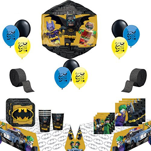 Lego Batman Party Supplies and Balloon Bundle