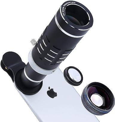 Aiker Teléfono Celular Kit de Lente con Clip Universal para iPhone, Samsung, HTC y más Smartphone: Amazon.es: Electrónica
