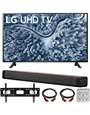 $669 » LG 55 Inch UP7000 Series 4K LED UHD Smart webOS TV (2021 Model) Bundle with Deco Home 60W 2.0 Channel Soundbar, 37-70 inch TV Wall Mount Bracket Bundle and 6-Outlet Surge Adapter