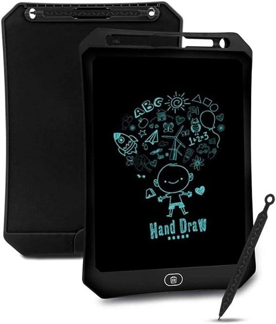 LCDの書き込みタブレット、12インチLCDの書き込みタブレット、LCDライティングタブレット、消去可能な電子デジタル描画パッド落書きボード、子供大人のホームスクールオフィスへの贈り物,黒