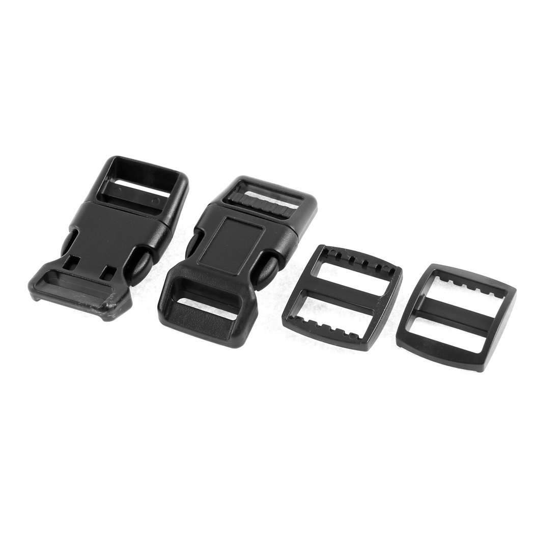 20mm Black Plastic Side Quick Release Buckle Clip Cord Strap Backpack Bag RE
