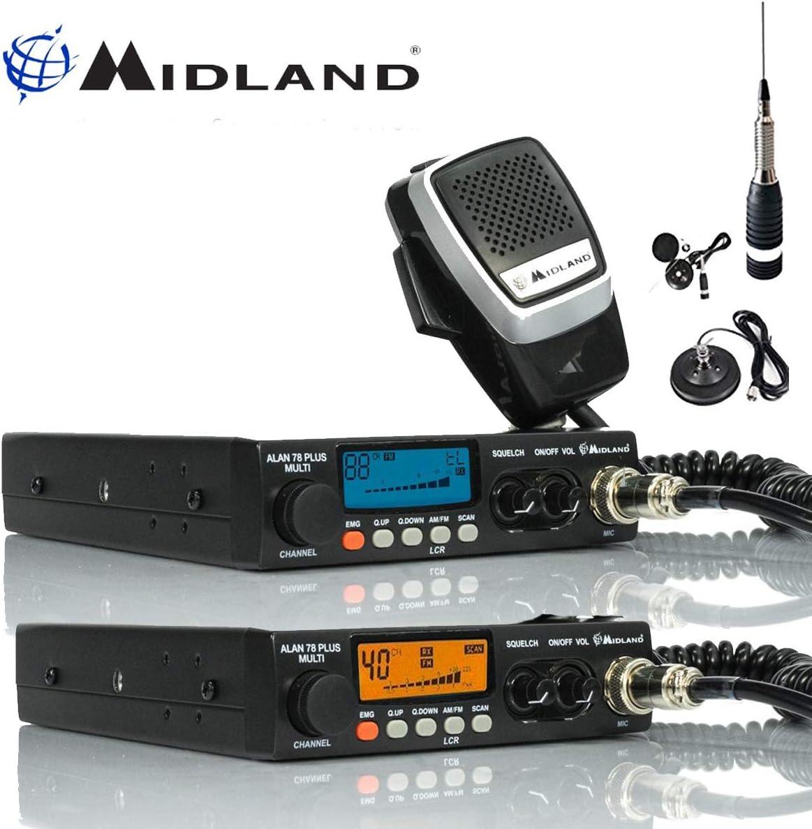 Midland 78 Plus 80 Canal Am FM Multi Bandas CB Transceptor ...