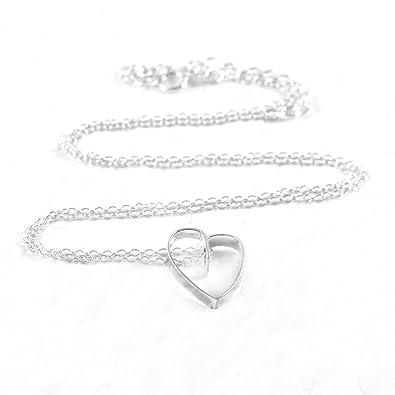 a7af39fb6e45fc Handmade 925 Sterling Silver Ribbon Heart Pendant with Free Gift Packaging  by Otis Jaxon: Otis Jaxon: Amazon.co.uk: Jewellery