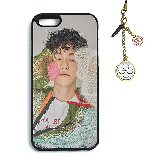 new style c8940 6ed09 Fanstown Kpop EXO iPhone 6/6s case EX'ACT + Dust Plug Charm (C15)