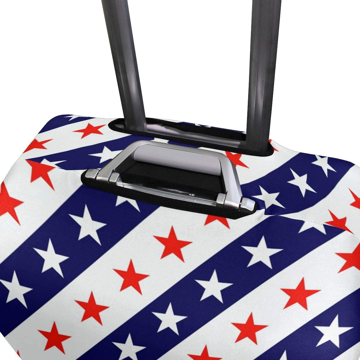 Travel Luggage Cover Red White Stars Blue USA Flag Color Suitcase Protector