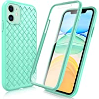 "FYY Case for iPhone 11 6.1"", [Anti-Germs Antibacterial Case] [Built-in Screen Protector] Slim Full-Body Stylish Protective Case for Apple iPhone 11 6.1"" Mint Green"