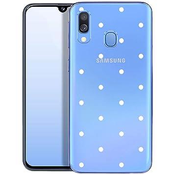 OOH!COLOR Carcasa para Móvil Compatible con Samsung Galaxy A40 Funda Silicona Transparente Suave Bumper Teléfono Caso para Samsung A40 con Dibujo ...