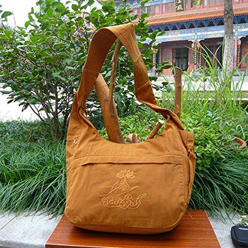 - Buddhist Monk Bag Embroidery Shaolin Kung Fu Oneshoulder Bag