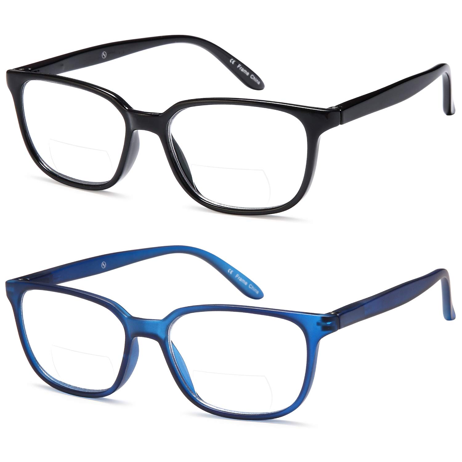 dd6b1ac699a Amazon.com  ALTEC Vision Pack of 2 Classic Style Bifocal Readers Spring  Hinge Reading Glasses – 1.50x  Health   Personal Care