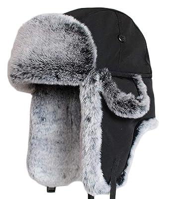 f6646237388cac Amazon | [ジンニュウ] 帽子 メンズ レディース ファー 防寒帽 帽子 耳 ...