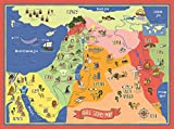 Bible Story Map Poster (17'' x 24'' Laminated)