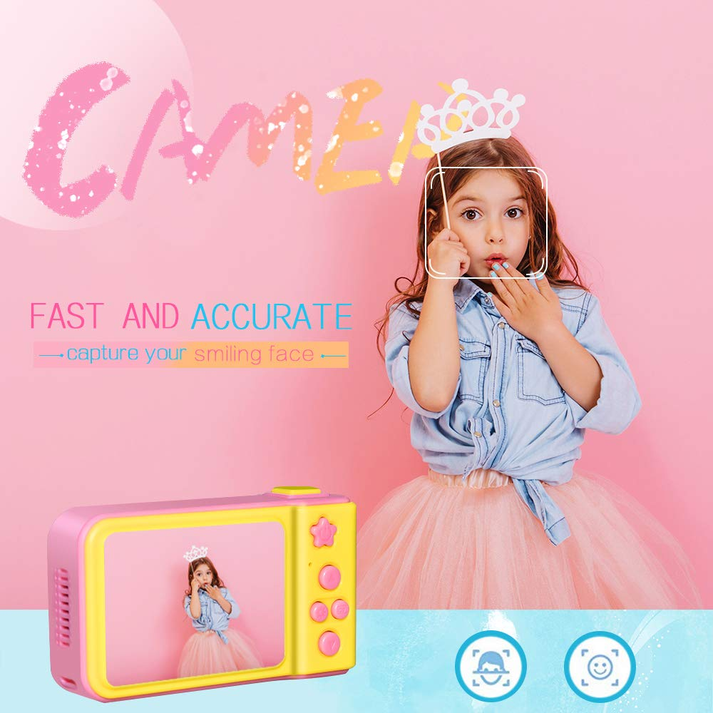 WIKI Birthday Presents Gifts for 3-8 Year Old Girls, Digital Camera for Kids Cool Toys for 3-8 Year Old Girls Outdoor Toys Age 3-8 Pink WKUSZXJ02 by WIKI (Image #2)