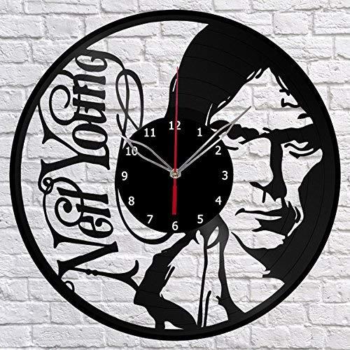 Neil Young Vinyl Record Wall Clock Fan Art Decor Original Gift Unique Decorative Vinyl Clock Black 12
