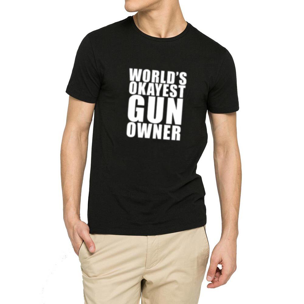Loo Show S World S Okayest Gun Owner Casual T Shirts Tee
