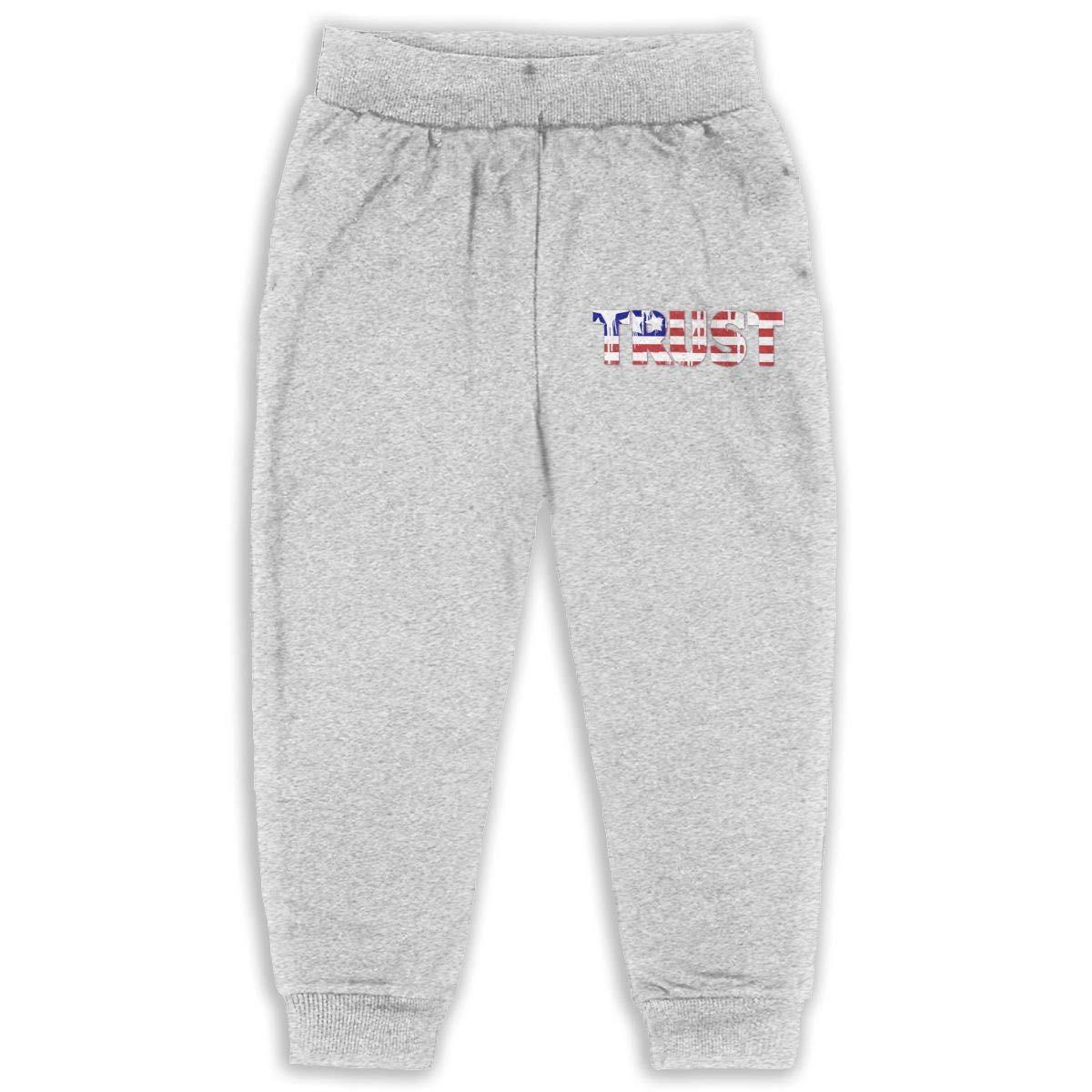 Fleece Active Joggers Elastic Pants DaXi1 USA Trust Sweatpants for Boys /& Girls