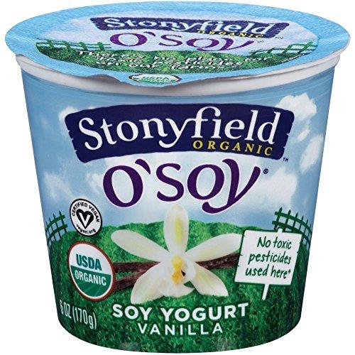 Stonyfield Farm Organic O Soy Fruit on the Bottom Vanilla Soy Yogurt, 6 Ounce -- 12 per case.