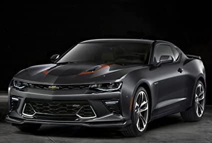 2017 Camaro 50th Anniversary >> Chevrolet Camaro 50th Anniversary 2017 Car Print On 10 Mil Archival Satin Paper Black Front Side Static View 11 X17