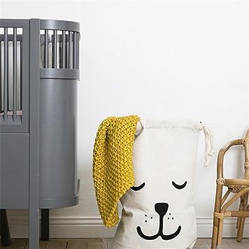 Cuteboom Canvas Laundry Bag – Sleeping Dog