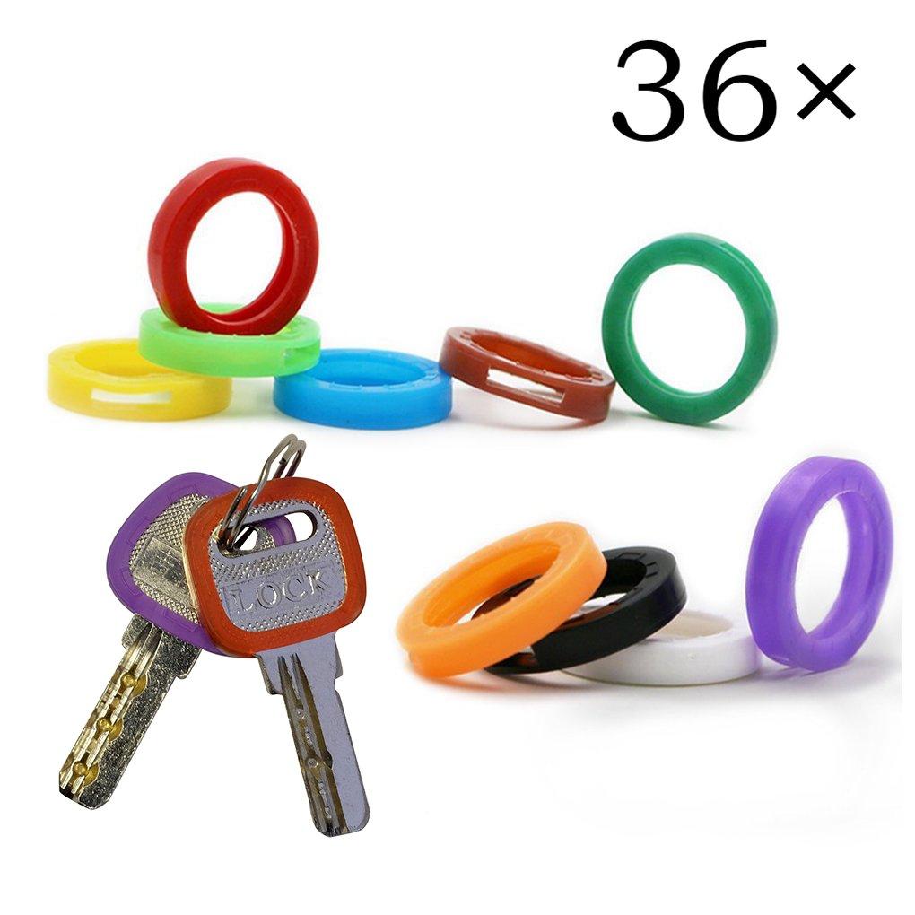 Aggiornato 36PCS Uniclife Key Caps copre i tag, codici chiave di plastica Identificatore di codifica in 9 diversi colori