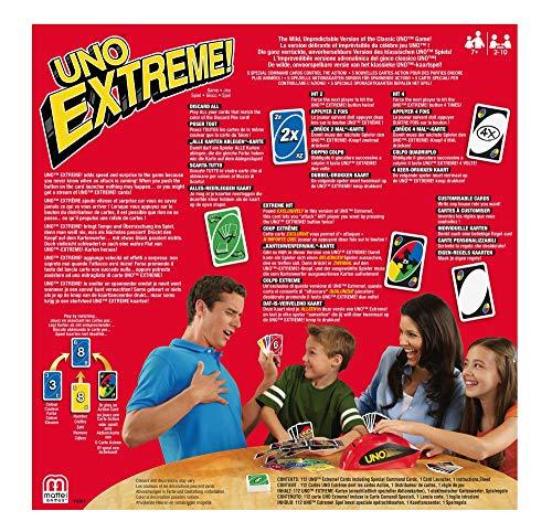 Mattel Games V9364 - UNO Extreme Kartenspiel, geeignet für 2 - 10 Spieler, Spieldauer ca. 15 Minuten, Gesellschaftsspiele und Kartenspiele ab 7 Jahren 5