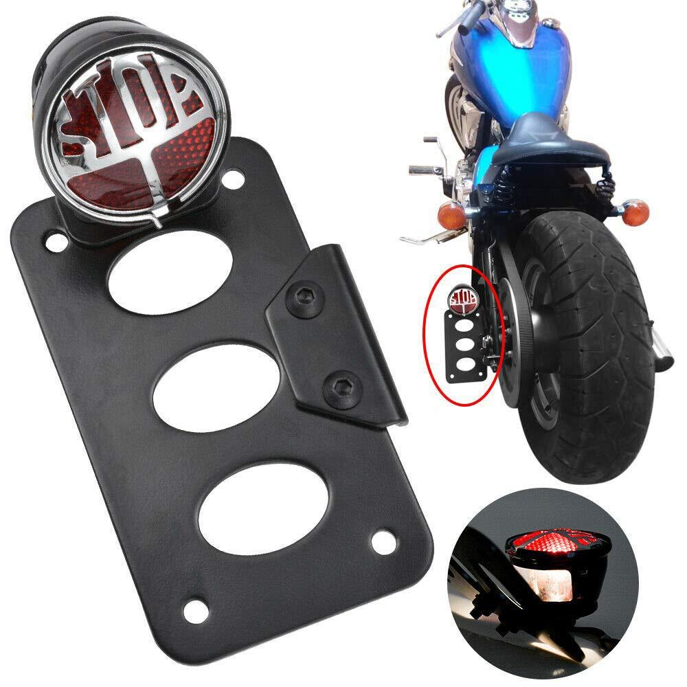 Motorbike number plate holder Motorcycle Side Mount License Bracket Holder License Plate For Harley Bobber Chopper