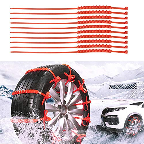 Simplylin_Beauty Tools 10 Pcs Snow Tire Chain Car Anti-Skid Emergency Winter Driving Spikes Car Tires,Auto and Motorcycle Exterior Protection/Accessories, Accessories,Disposable car Anti-Skid Belt