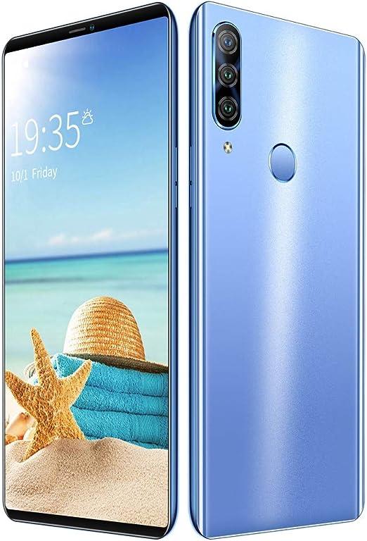 Smartphones, TeléFonos MóViles ResolucióN De 5,72 Pulgadas 2230X1080 Pantalla Completa 1G + 4G Reconocimiento Facial P43 Blue: Amazon.es: Hogar