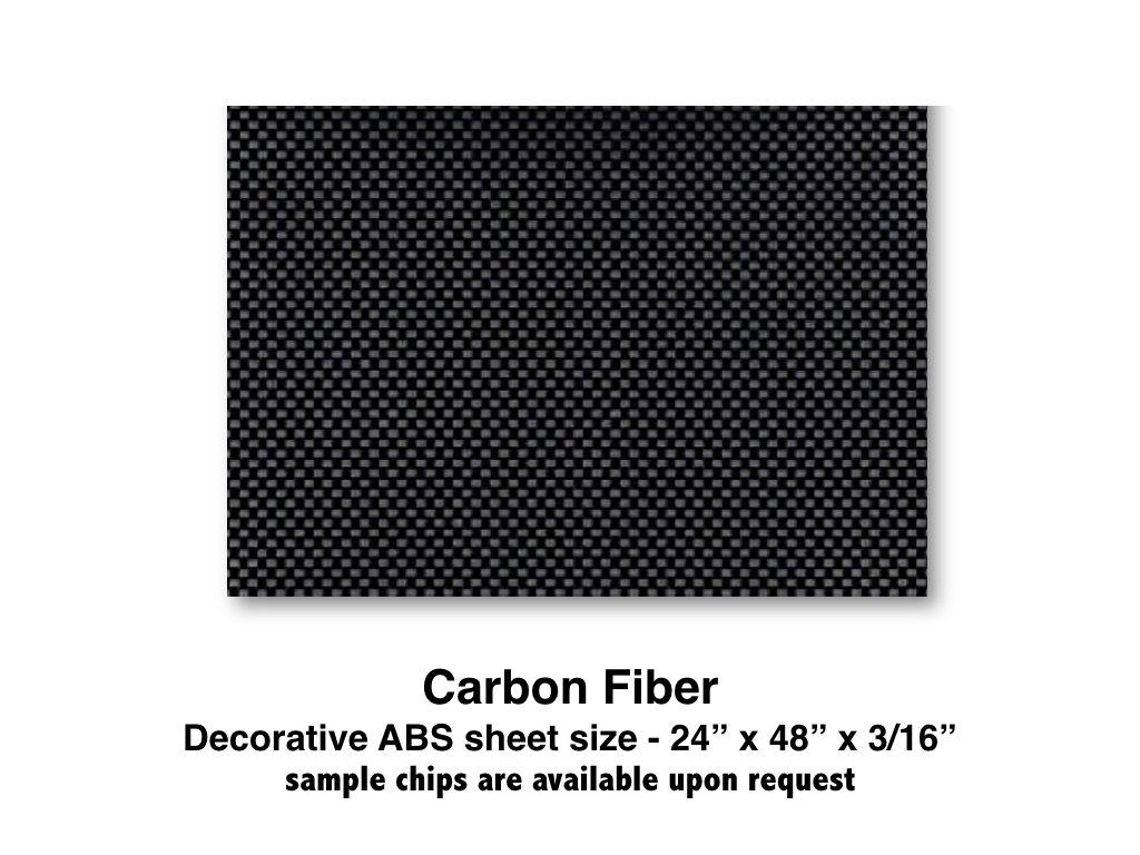 "Carbon Fiber ABS Plastic Sheet for boat Instrument Panels 24"" X 48"" X 3/16"""