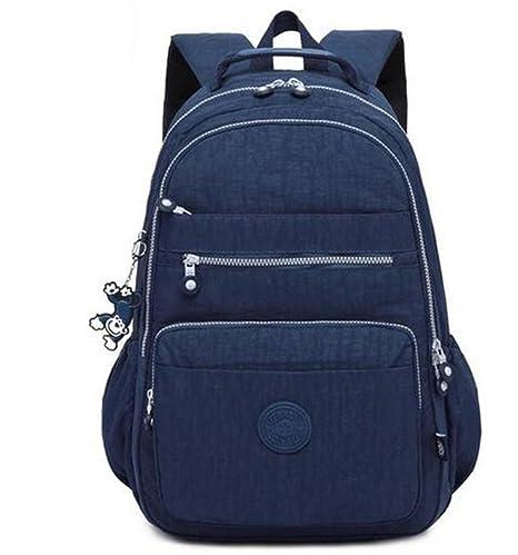 Mochila Escolar para Adolescentes Mujeres Mochilas Nylon Impermeable, Informal, Bolsa para Laptop, packFemale