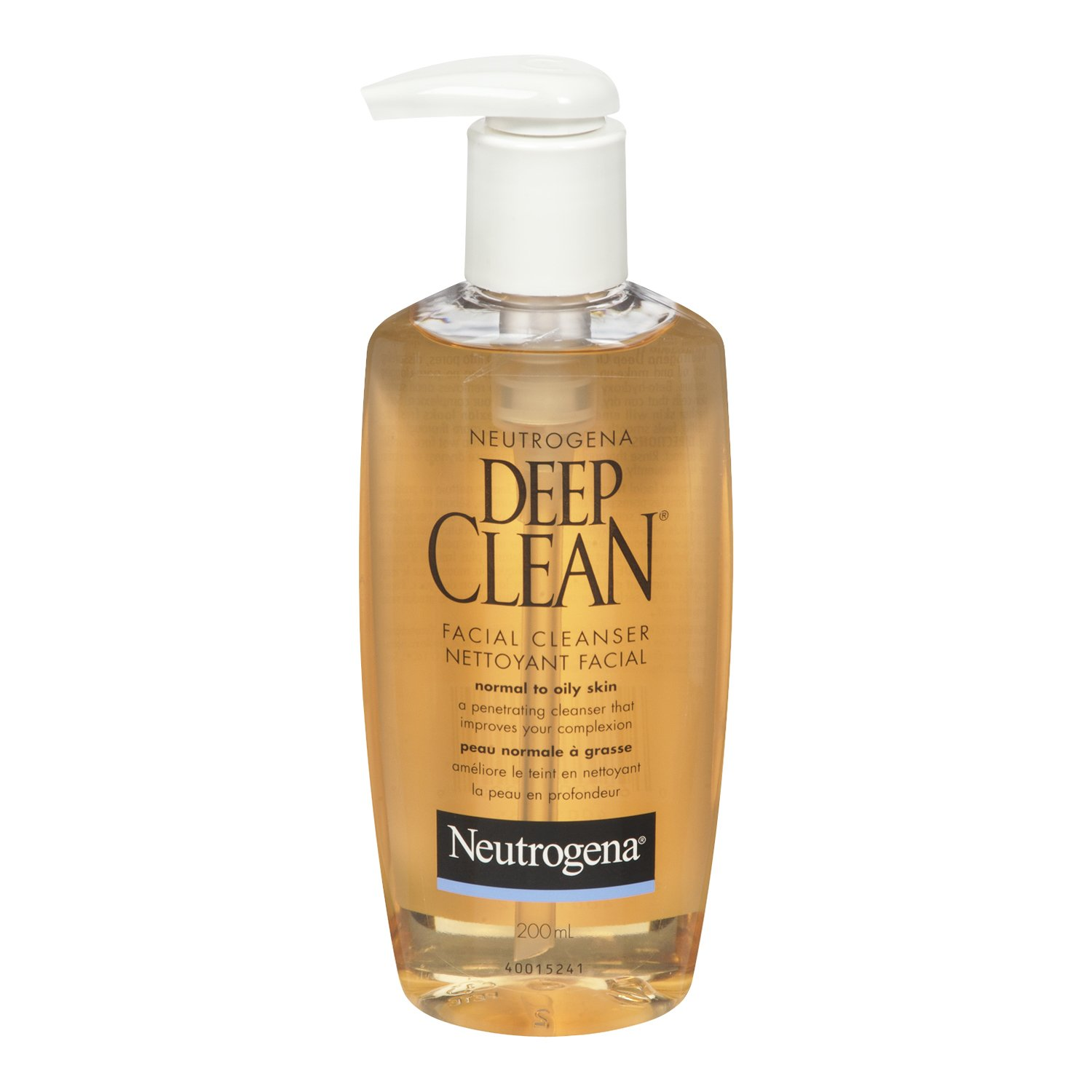 Neutrogena Deep Clean Face Wash, Oil Free Facial Cleanser for Oily Skin, 200 mL