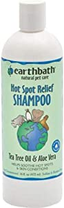 Earthbath THREP0047 Hot Spot Relief Shampoo Tea Tree Oil & Aloe Vera 16 fl. Oz.