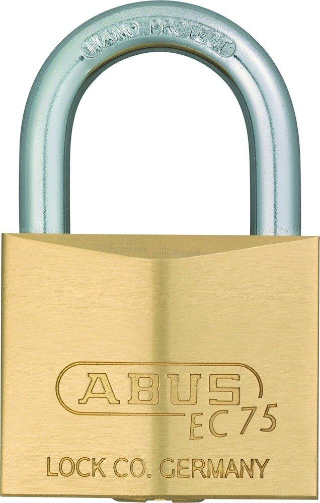 ABUS 26842 Messing Vorh/ängeschloss mit 5 Wendeschl/üssel