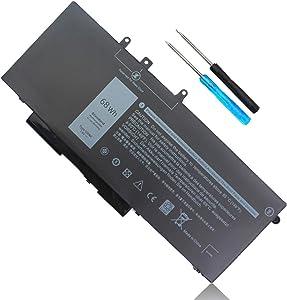 GJKNX 7.6V 68Wh Battery for Dell Latitude 5580 5480 5280 5590 5490 5488 5288 5495 5491 5591 E5480 E5580 E5490 E5590 Precision 3520 3530 Series 451-BBZG GD1JP 0GD1JP DY9NT 0DY9NT 5YHR4 P60F P72G 4-Cell