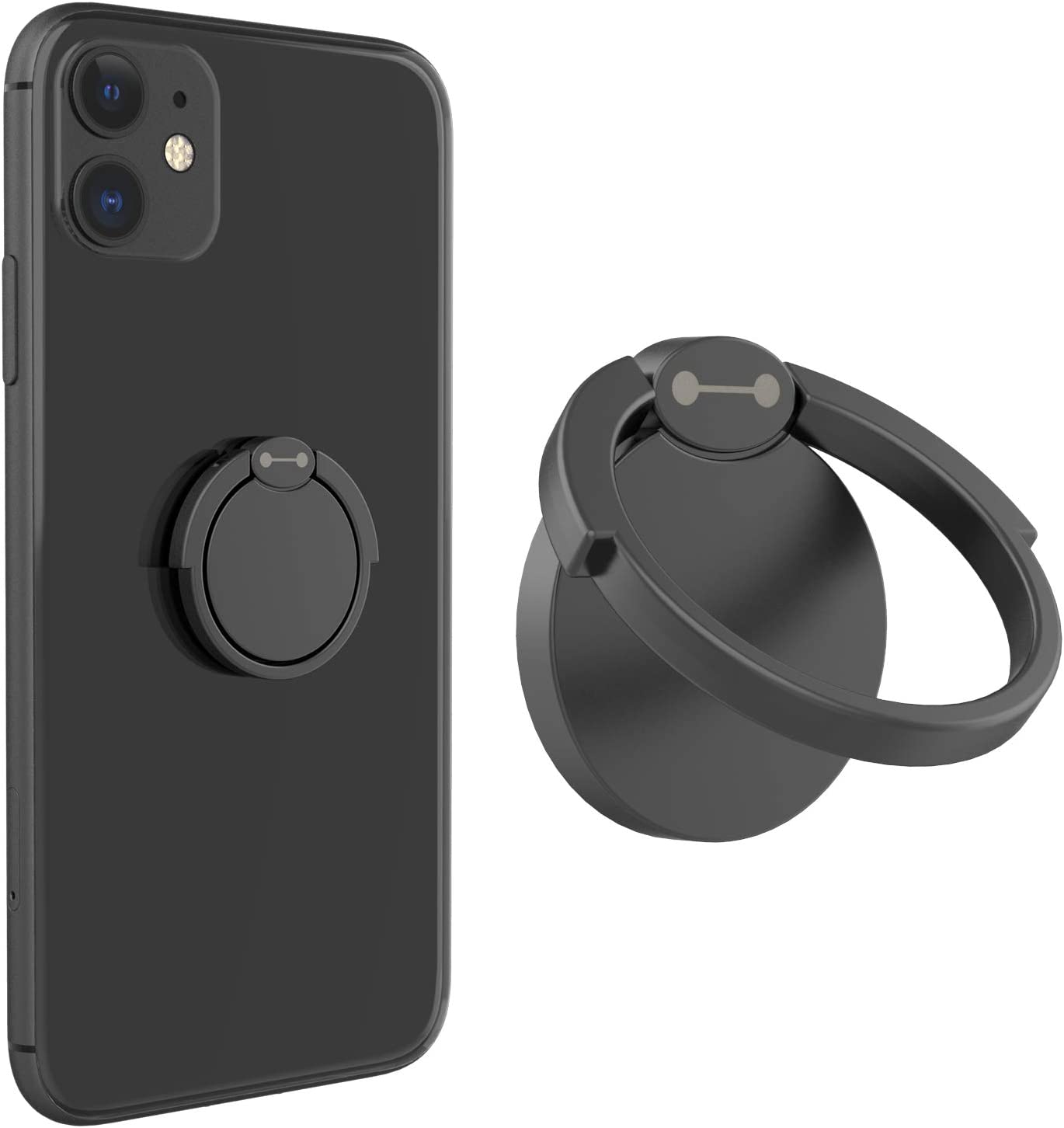 Samsung Galaxy and Other Smartphones Matte Black VELAGOL Cell Phone Ring Holder Stand 360/° Rotation Universal Phone Ring Kickstand Grip Compatible with iPhone 11//Xs//Xs MAX//X//8//8 Plus//7//7 Plus