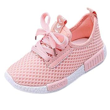 10af83678da0 Amazon.com   Fiaya Kids Sneakers Mesh Breathable Lightweight Athletic  Running Tennis Shoes (Toddler Little Kid Big Kid) (Pink