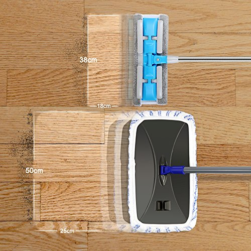 Mastertop Large Surface Microfiber Flat Mop 360 Degree Used Wet and Dry with Adjustable Handle for Hardwood Floors by Mastertop (Image #3)