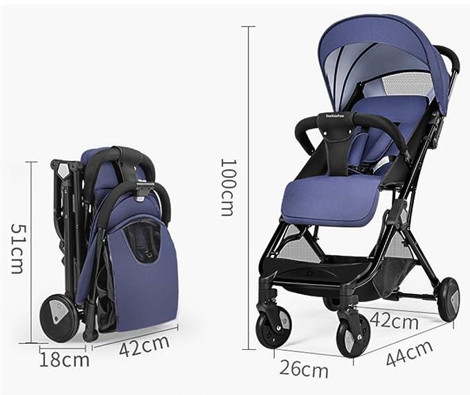 QQB &Carro Plegable Carro de bebé Puede Sentarse y mentir Board El Plano Ultra-Ligero Portable Alto Paraguas de Paisaje Coche (Color : 2#): Amazon.es: Hogar