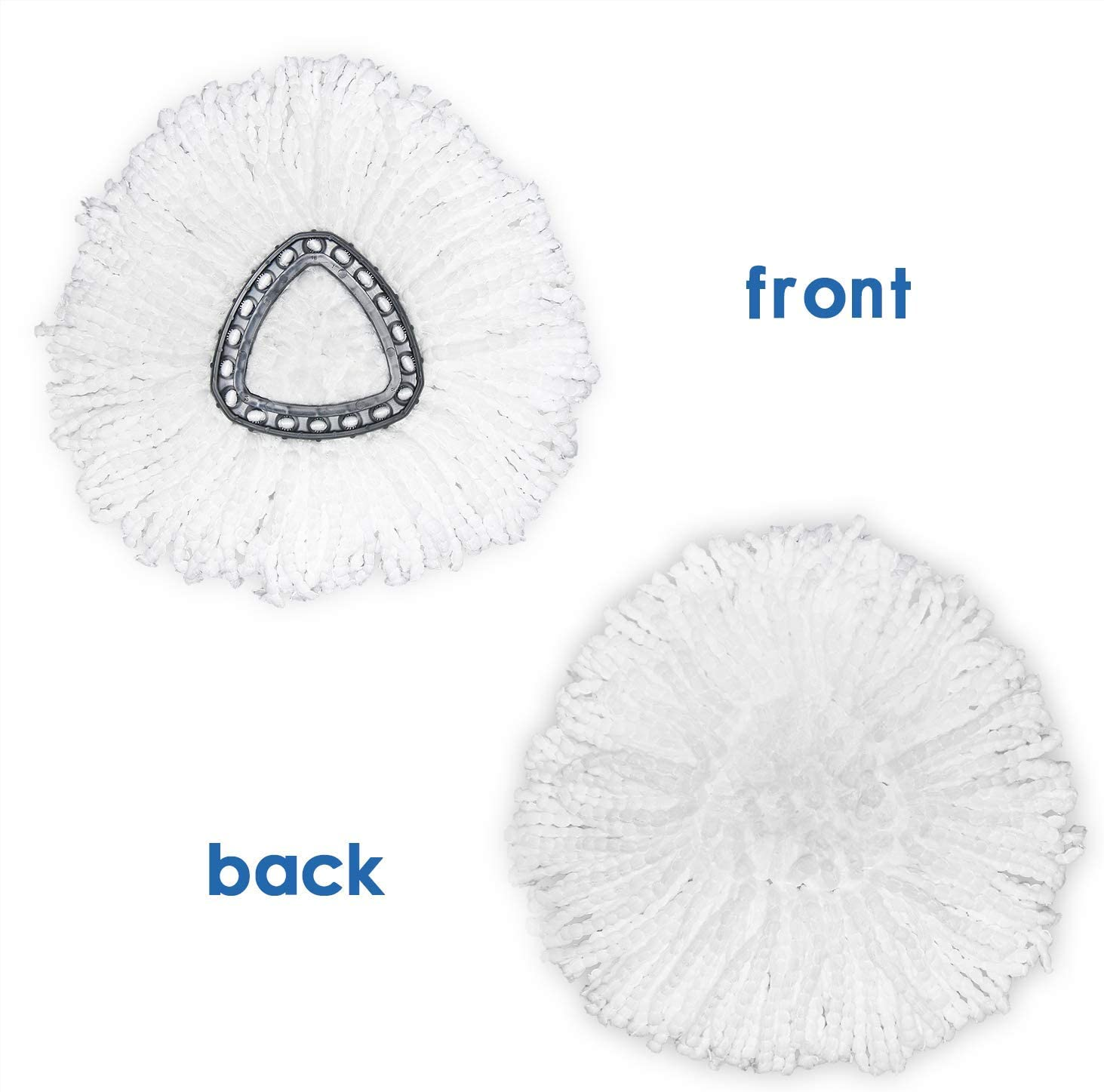 Spin Mop Replacement Head Microfiber Mop Head Refills Easy Cleaning Mop Head Replacement 4 Pack