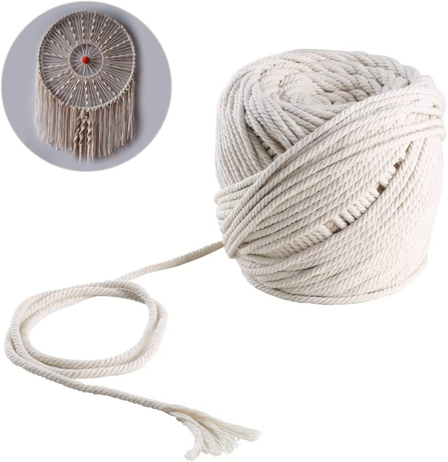 tapices fundas para muebles Bobina de hilo de macram/é de algod/ón de 3 mm y 6 mm; cord/ón de trenzado para soportes colgantes para plantas Macram/é