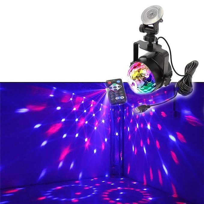 Disco Luces Fiesta Bola Proyector Etapa Lámpara de Cristal 3 Modos ...