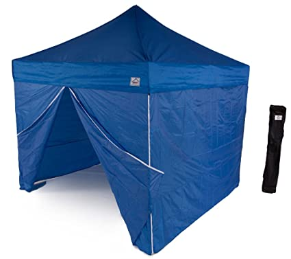 buy online a5c8e 2ad3c Impact Canopy 10' x 10' Instant Pop-Up Canopy Tent, Sun and Rain Shelter  with Sidewalls and Aluminum Frame, Royal Blue