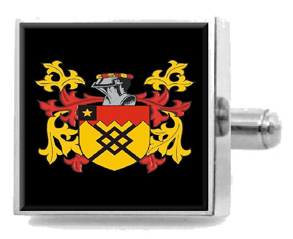 Select Gifts Fake England Heraldry Crest Sterling Silver Cufflinks Engraved Message Box