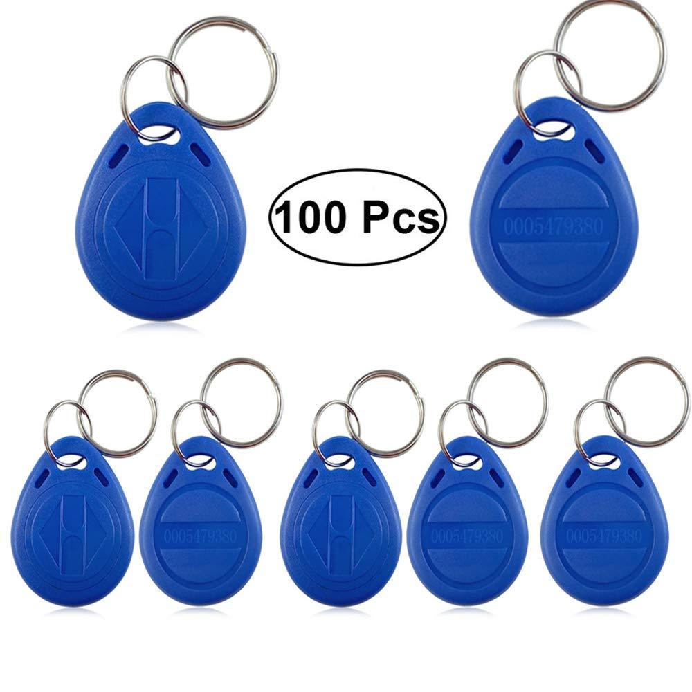 100 pcs RFID Llaveros genéricos Escribir Reescritura 125KHz Proximidad Rfid ID Card texto etiqueta Llavero T5577 EM4305 Tarjetas Copiadora para el ...